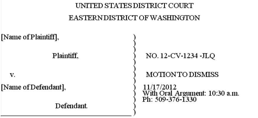 Local Civil Rules Eastern District of Washington | Eastern District