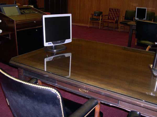 Attorney table with monitor
